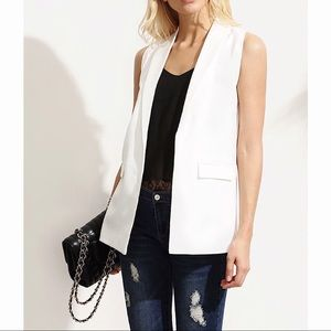 Jackets & Blazers - White Sleeveless Blazer